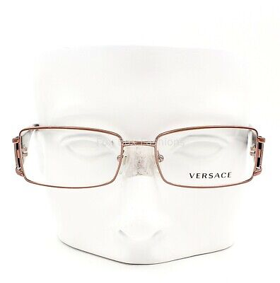 Versace MOD 1163-B 1013 Bijou Eyeglasses Glasses Rose Gold 52-16-130 Blemish