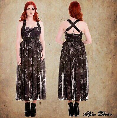 Hell Bunny Altaira Maxi Dress XS Gothic Witch Dark Mori Girl Steampunk Lolita