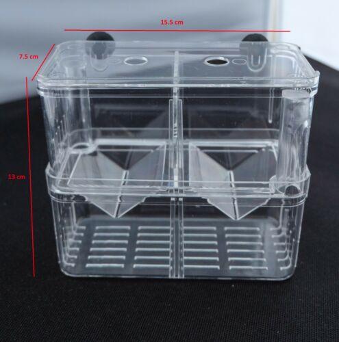 Aquarium Fish Tank Breeding Breeder Rearing Box Hatchery Isolation Case, Large