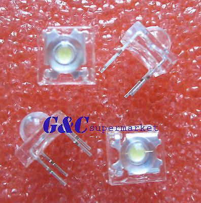 100 Pcs 5mm 4pin Piranha Led White Super Bright Led Light J16