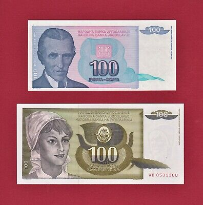 Yugoslavia 1000 1,000 1991 P-110 Nikola Tesla Unc Dinara x 10 Pcs
