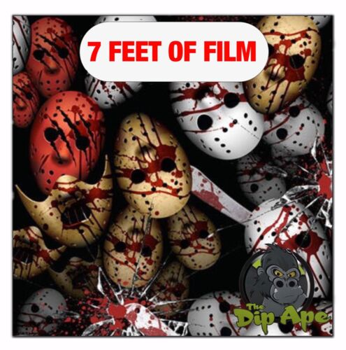 Hydrographic film Bloody Massacre hydro dip dipping Friday 13th bloody skulls 7