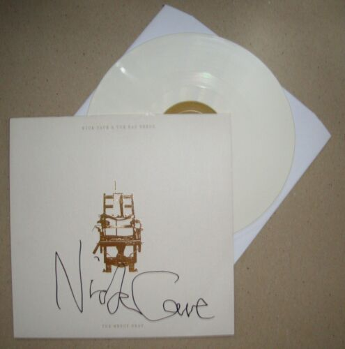 NICK CAVE Mercy Seat SIGNED White Vinyl LP RARE RSD Record Store Day 2010