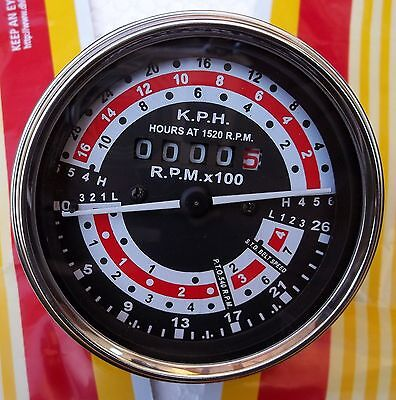 Massey Ferguson 135 Kph Dual Clutch A.3 152 Diesel Engine Tachometer 899423m91