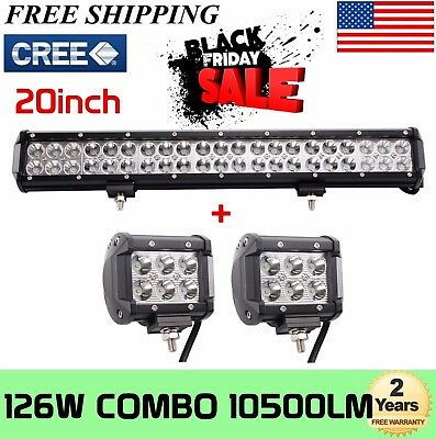 Led light barebay 1 20 126w cree led work light bar offroad boat lamp spot flood combo free mozeypictures Choice Image