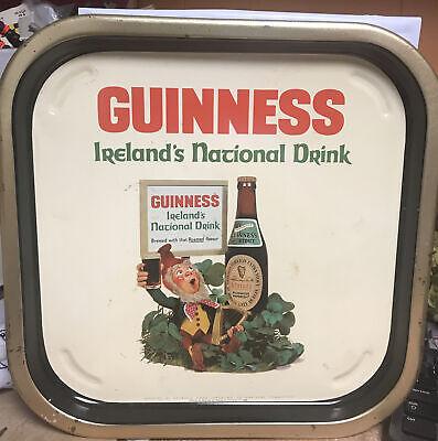 "GUINNESS IRELAND'S NATIONAL DRINK BEER TRAY VINTAGE 13 1/2"" RARE ADVERTISING HTF"