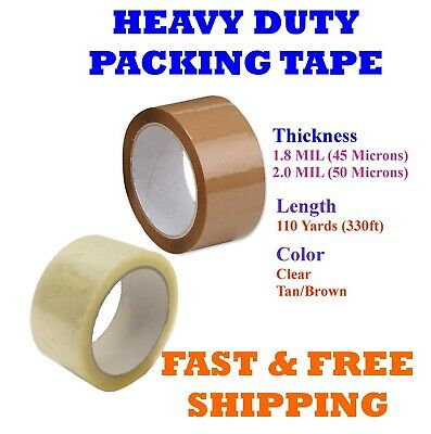1-108 Rolls Clear Tan Packing Tape Packaging Cartons 2 3 X 110 Yards 330ft