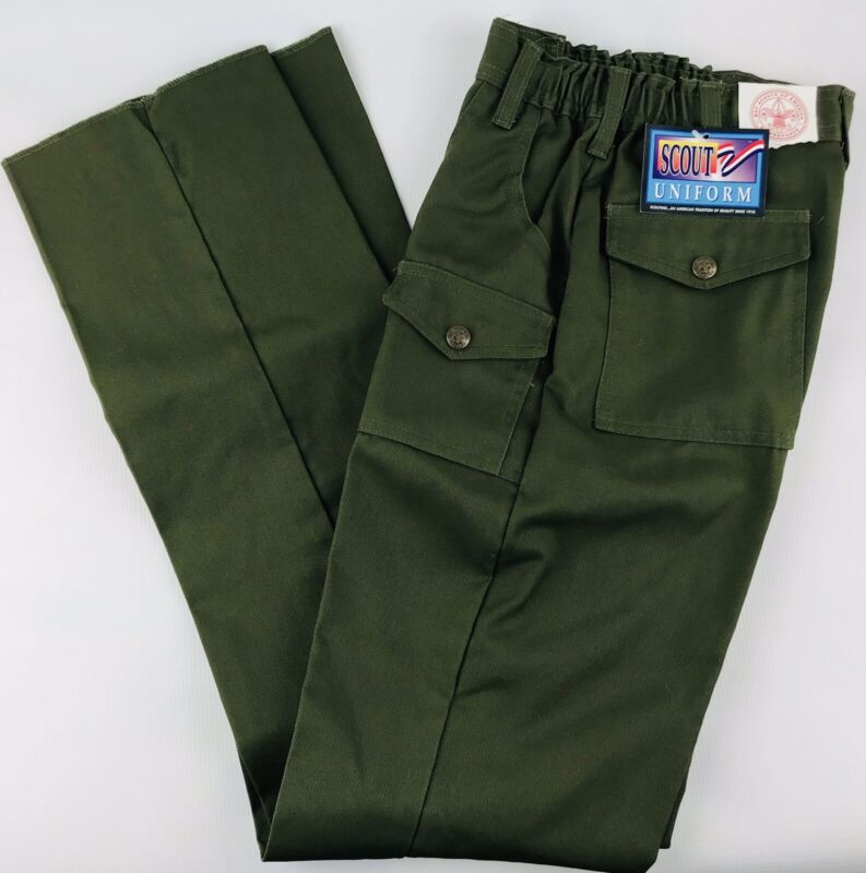 Boy Scouts Of America BSA Official Uniform Pants Green Youth Size 12 Waist 26