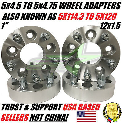 5x4.5 To 5x4.75 Wheel Adapters Spacers 1 Inch (Also known as 5x114.3 to