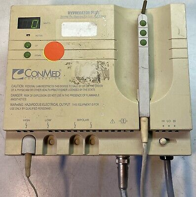 Conmed Hyfrecator 2000 Esu High Frequency Desiccator With Power Cord