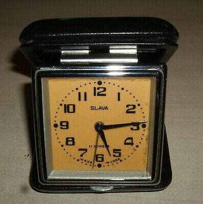 Vintage Slava Travel Alarm Clock