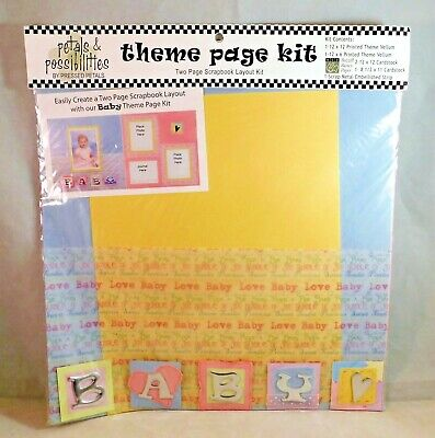 Infant Theme Ideas (Baby Theme Page Kit Scrapbook Vellum Cardstock Layout Ideas Pressed Petals)