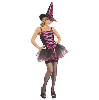Halloween Karneval Kostüm Ballerina Hexe Süße Hexe Sexy pink STD