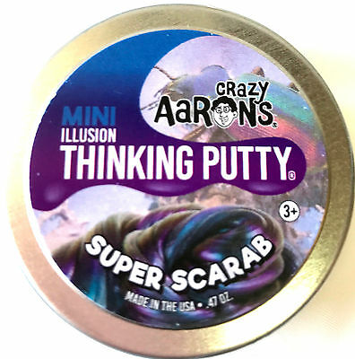 Super Scarab Super Illusions Crazy Aarons Thinking Putty Small 2 Inch Tin  47Oz