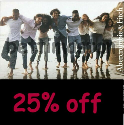 25% ABERCROMBIE Coupon code sale clearance items 12/02