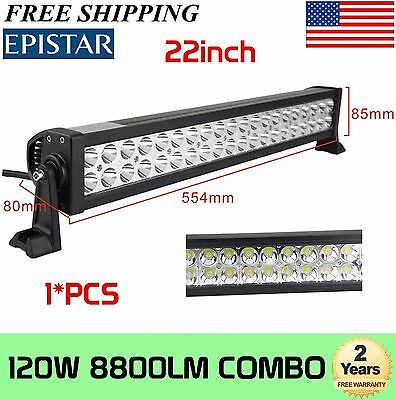 22inch 120W COMBO LED Work Light Bar Offroad Driving Lamp SUV Car Boat 4WD Truck