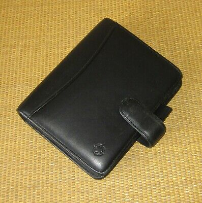 Compact Franklin Covey Black Nappa Leather 1.25 Rings Open Plannerbinder