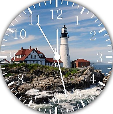 """Lighthouse wall Clock 10"""" will be nice Gift and Room wall Decor E107"""