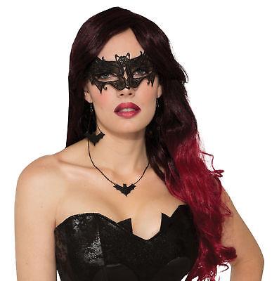 Ladies Lace Bat Design  EyeMask Cute Mysterious Halloween Vampire Bat Lace Mask ()
