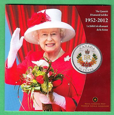 1952 - 2012 The Queen's Diamond Jubilee Commemorative Canada 50 Cent Coin - RCM for sale  Saint John