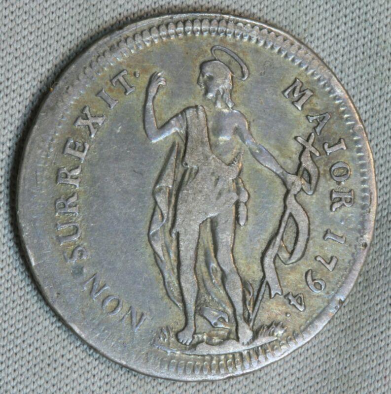1794 Italian States Genoa 1 Lire Lira Italy World SK359