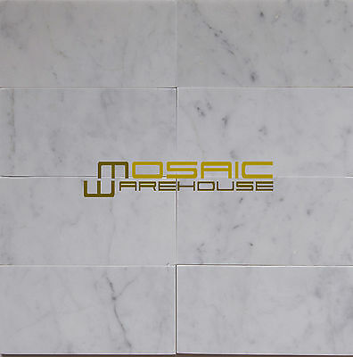Carrara White Marble Kitchen Backsplash Bathroom Floor Wall Tile, CWMT0306-H (Carrara Marble Bathrooms)