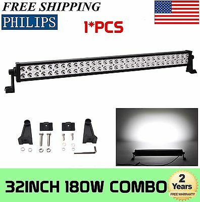 "как выглядит 32""in 180W LED Work Light Bar Offroad Spot Flood Combo 4WD Roof ATV SUV 30"" 150W фото"