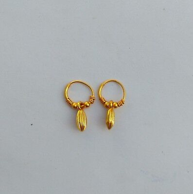 Indian Bali 12K GoldPlated Fashion Small Hoop Earrings Jewelry Best For
