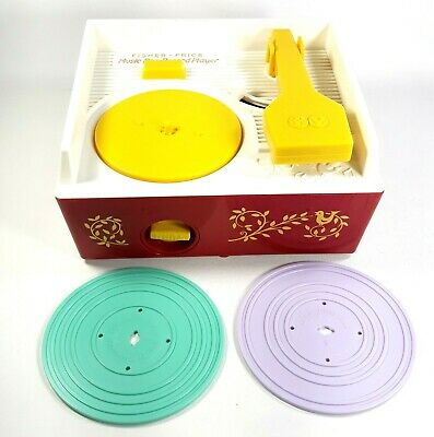 Fisher-Price Music Box Record Player 2014 Child Toy w/ two Records