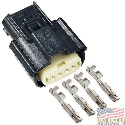 Molex 4 Pin Female Single Row Diy Connector Kit For Ford F-150 Hid Headlight