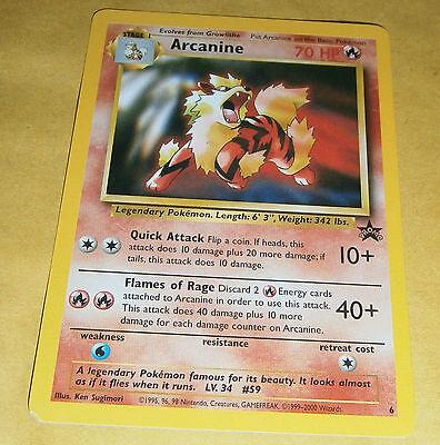 POKEMON BLACK STAR PROMO CARD - #6 ARCANINE