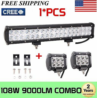 17inch 108W Cree Led Light Bar Combo + 2X4