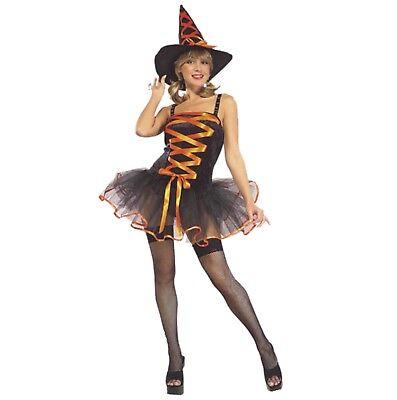 Halloween Karneval Kostüm Ballerina Hexe Süße Hexe Sexy orange STD