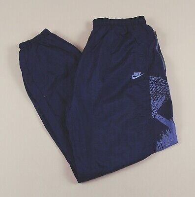 NIKE Navy Blue Jogging Bottoms Joggers Track Pants Size Men's XL /T5004