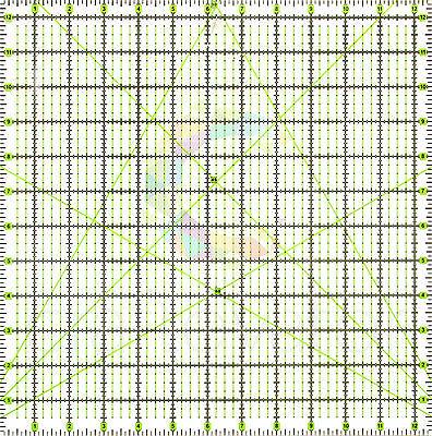 "12.5"" x 12.5"" Quilting Patchwork Ruler Premium Rotary Craft Square Imperial"