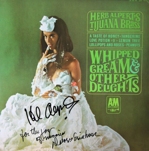 Herb Alpert Whipped Cream & Other Delights SIGNED Record w/ Delores Erickson!!