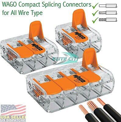 Wago 235 Conductor Splicing Wire Connector Total 10 Pieces
