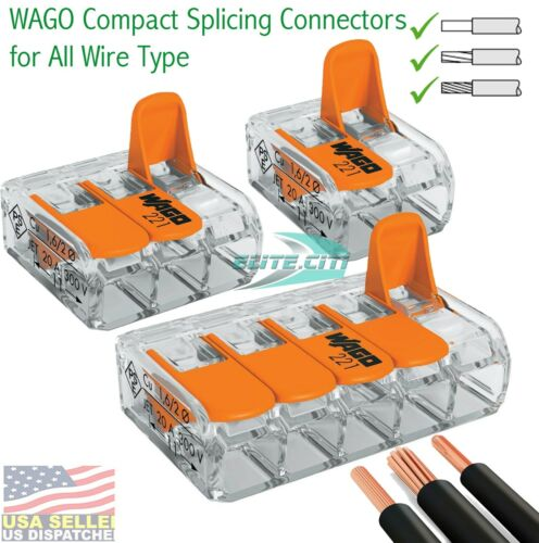 Wago 2,3,5 Conductor Splicing Wire Connector (Total 10 Pieces)