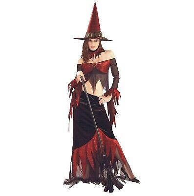 Halloween Karneval Fasching Kostüm Rote Hexe Sexy (Rote Hexe Kostüme)