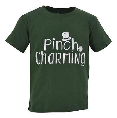 Boys ST Patricks Day Pinch Charming Shirt 2t 3t 4t 5 6 7 8 Toddler Kids Clothes - St Patricks Day Apparel