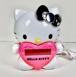 HELLO KITTY Time On Wall Projection Projector AM/FM Alarm Clock Radio KT2064P