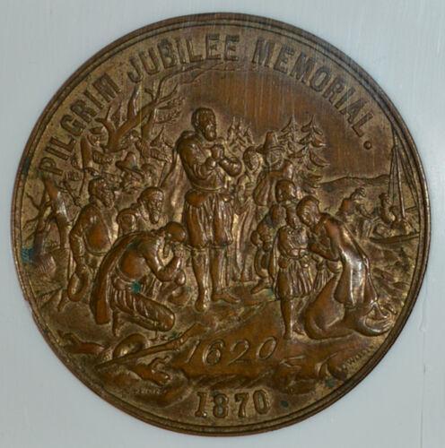 1870 Pilgrim Jubilee Memorial So Called Dollar HK-15 NGC MS 61 UNC  SCD