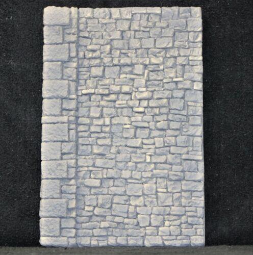 6160 Stone Wall O / G Scale Rough Cut Stone Block W/ End Column Buttress