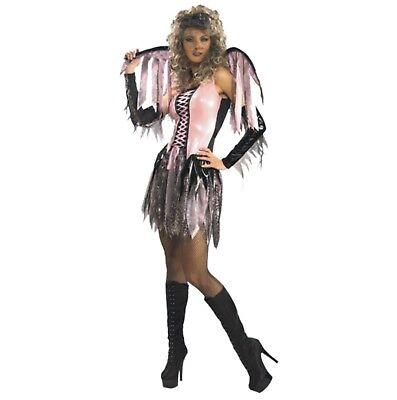 Halloween Karneval Kostüm Lack Spinnen Fee Elfe Flügel Sexy Spider Web Fairy M