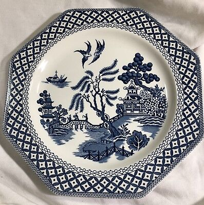 Meakin Willow (J&G Meakin Willow Polygon Dinner Plate Royal Staffordshire Ironstone England)