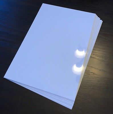 8 X 10 Photo Sheet -aluminum Sublimation Blanks White Square Corners- 10 Pcs