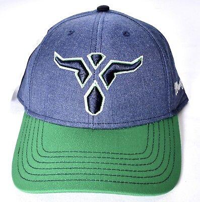 WRANGLER 20X Steerhead Logo Colorblock Hat/Cap Adjustable Blue/Green 20XC05M NEW