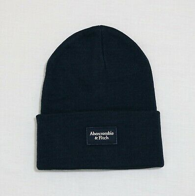 Abercrombie & Fitch Men Logo Patch Beanie one size fit new with tags