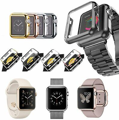 Apple Watch Series 3/2/1 Full Cover Snap-on Case w/ Built-in Screen Protector Cases, Covers & Skins
