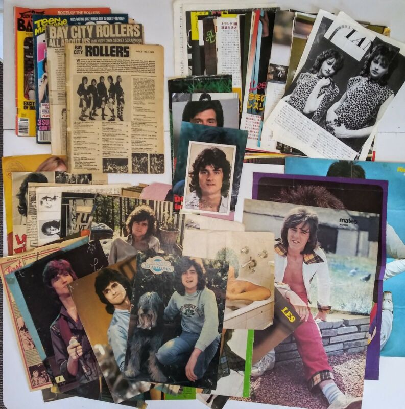 Bay City Rollers Vintage Magazines Clippings Posters Japan Lot of over 70 items